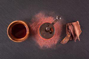 Psychoactive ayahuasca drink.